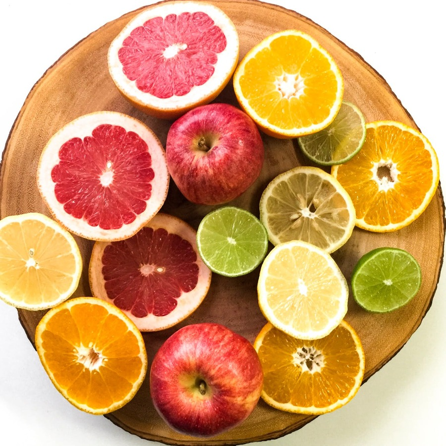 Citrus Fruits are high in vitamin C. Building your immune system to help with your allergy response
