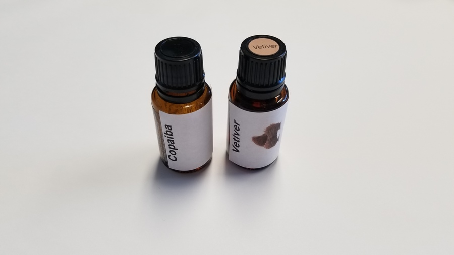 Copaiba & Vetiver to help with Relaxation and End of the day Tension.
