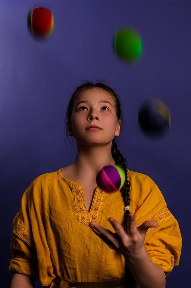 Woman Juggling